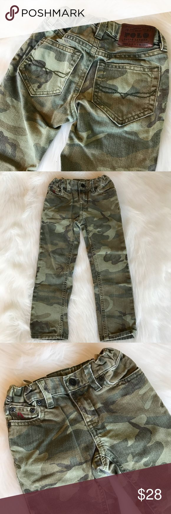 "Ralph Lauren Polo Boys Camouflage Jeans Camo Ralph Lauren Polo Toddler Boys Camouflage Jeans with adjustable waist! Love this neutral print! So great for Fall! 109% cotton. Size 3T. 22"" long. Like new!! WM1335082417 Polo by Ralph Lauren Bottoms Jeans"