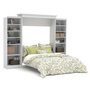 Nantucket White Wood Storage Queen Murphy Chest Bed