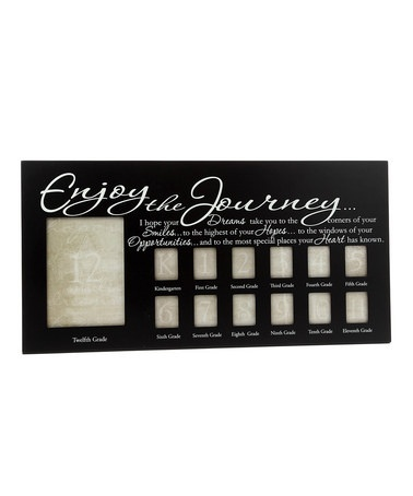 Take a look at this Black 'Enjoy the Journey' School Year Frame by Kindred Hearts on #zulily today!