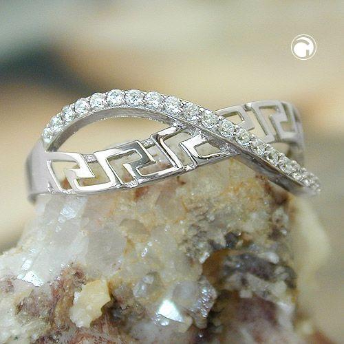 Ring omlott zirconias Äkta Silver