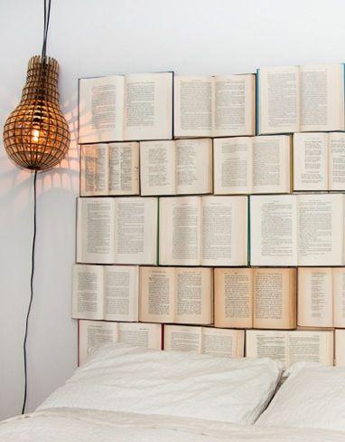 Cabecero de libros para que nuestras historias preferidas nos acompañen en sueños #DIY #inspiración #decoración