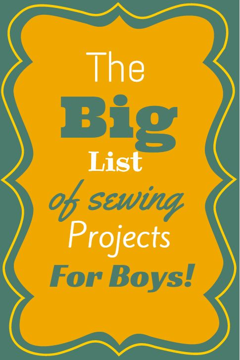 A round up of Free Sewing patterns for boys