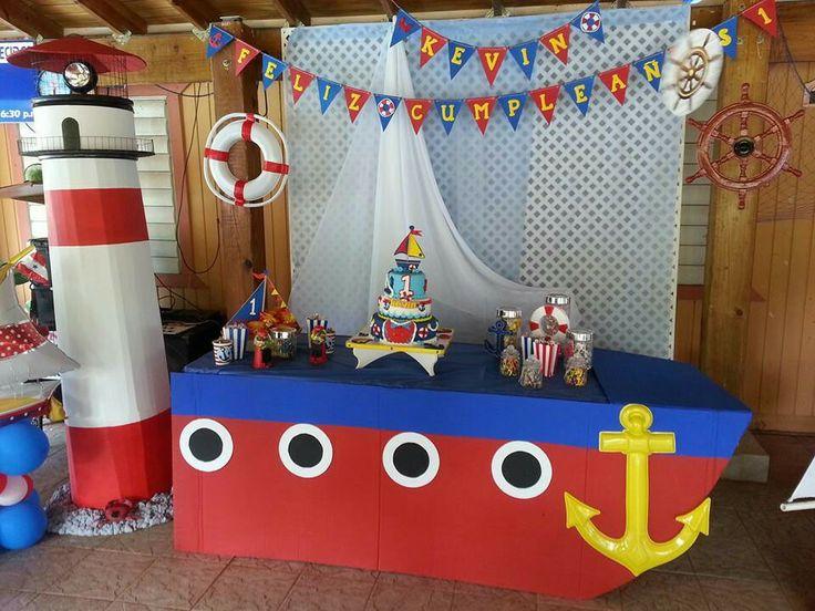 Nautical birthday party pinterest birthdays - Decoracion estilo marinero ...