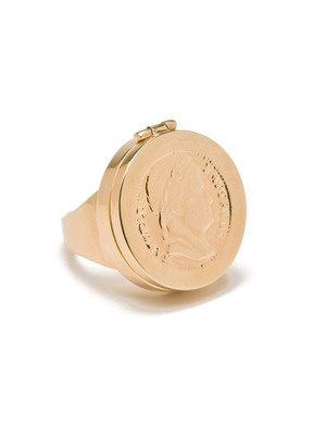 CC Skye Jewelry  Gold Coin Ring  $150