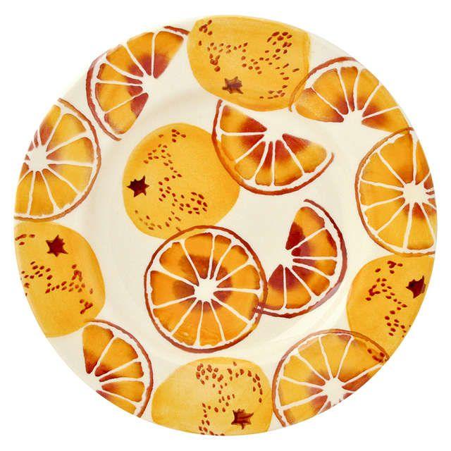 BuyEmma Bridgewater Black Toast 'Oranges' Plate, Orange, Dia.22cm Online at johnlewis.com