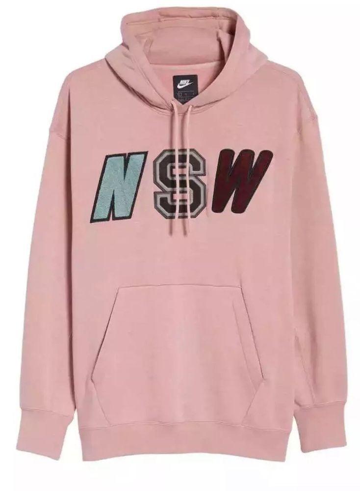 b0a445e032a5 Nike Sportswear NSW Men s Fleece Hoodie Pullover Rust Pink 943573-685 Size  M  Nike  Hoodie
