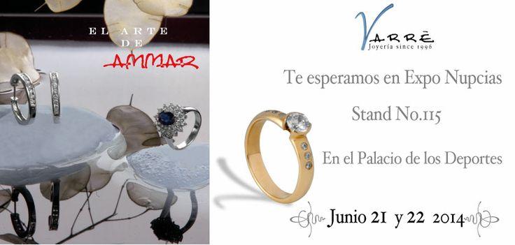 El Arte de Ammar  ♥  Ven a Expo Nupcias Stand No.115 Junio 21 y 22. En el Palacio de los Deportes. Grandes Promociones para ti 6 y 12 Meses sin Intereses en nuestra joyería #promociones #argollasdematrimonio #bodas #añonuevo #miércoles #compromiso #eshoradedisfrutar #novia #novio #anillodecompromiso #joyería #descuentos #junio #churumbelas #expoboda #bodaclick #parejas #eventos #boda #tft #amor #anillos #aretes #gargantillas #mama #papa #ff