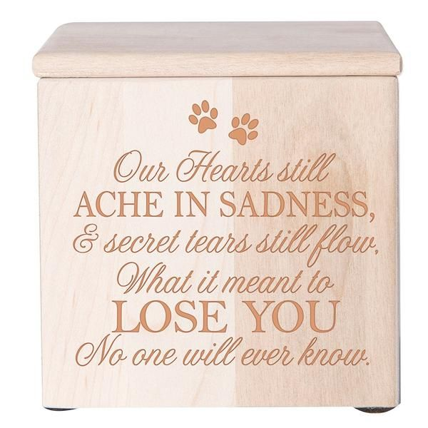 Cremation Urns for Pets Memorial Keepsake box for Dog or Cat Ashes