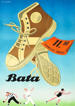 Donald Brun poster: #Bata (high tops)  #Batashoes #advertising #reklama
