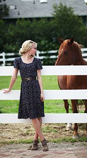 """Everly Dress. Modest Fashion doesn't mean frumpy! Fashion Tips (and a free eBook) here: http://eepurl.com/4jcGX Do your clothing choices, manners, and poise portray the image you want to send? """"Dress how you wish to be dealt with!"""" (E. Jean) http://www.colleenhammond.com/"""