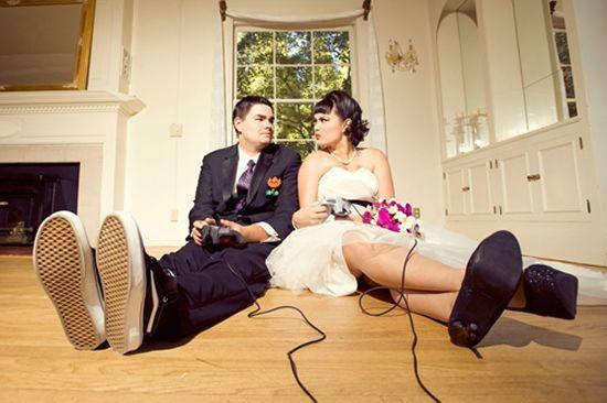 A gamer-geek wedding dream comes true Walyou