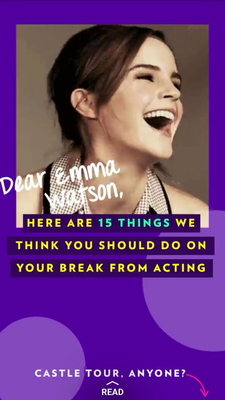 We're pretty much planned Emma Watson's year hiatus from acting on PEOPLE's Snapchat Discover—because we'll miss her so much.