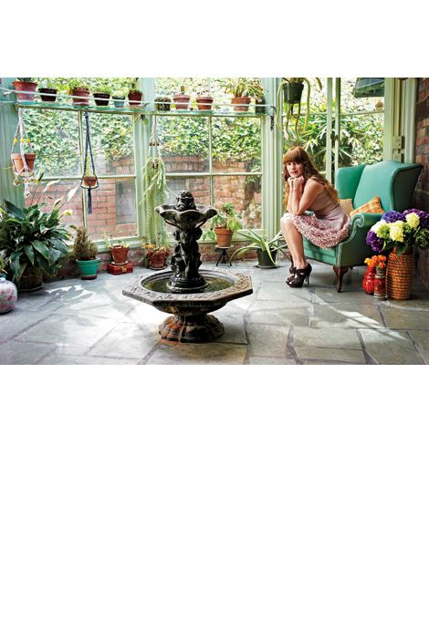 jenny lewis in her home: Sunroom Conservatory Solarium, Jenny Lewis, Dreams Houses, Sunroom Ideas, Art Design, Greenhouses Rooms, Gardens Yard, Gardens Sunroom, Lewis Greenhouses