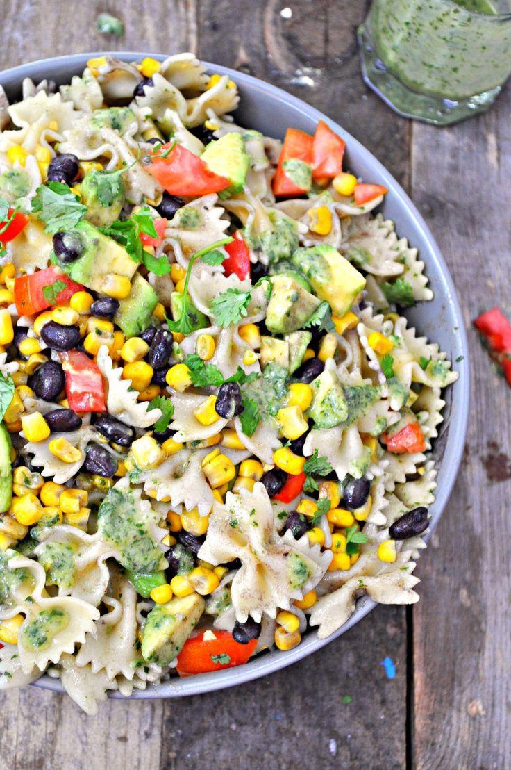 Vegan Southwestern Pasta Salad with Creamy Cilantro Lime Dressing