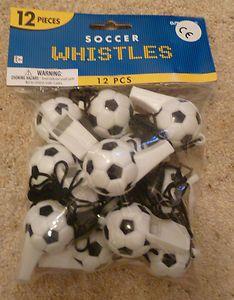 12 Soccer Whistles Boys Football Party Bag Fillers NEW   eBay