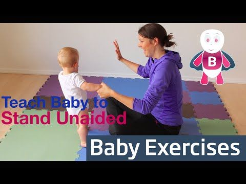 Teach Baby to Stand - Baby Exercises #9-12 Months - Baby Activities, Baby Development - YouTube