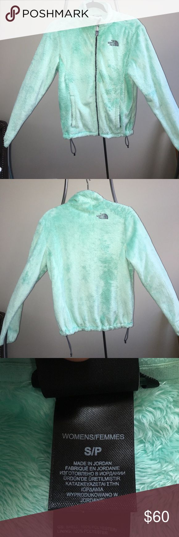 Ladies Small Mint Green North Face Jacket I bought this a little under 2 years ago and has been worn very few times. Cute color and very comfortable! North Face Jackets & Coats