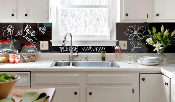 1000 images about backsplash on pinterest the cabinet for Easy inexpensive kitchen backsplash ideas