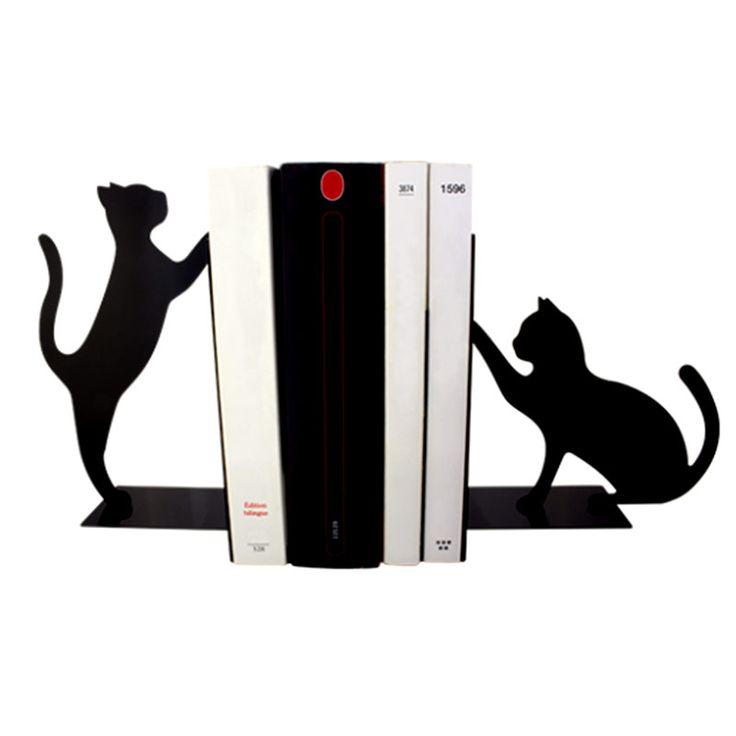 sujetalibros gatos