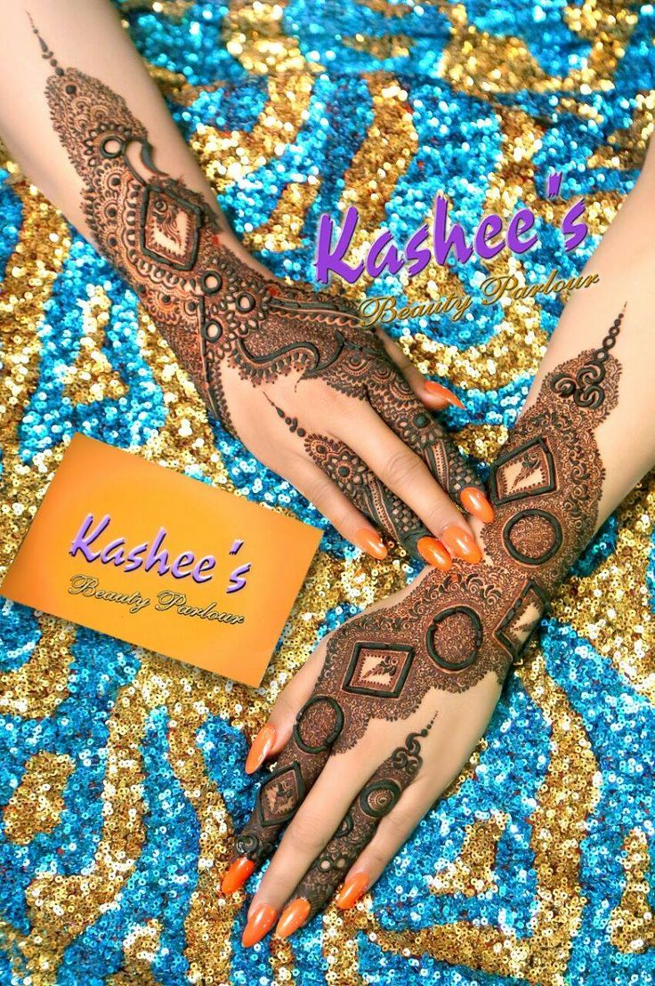 *EXTREMELY BEAUTIFUL PARTYWEAR MEHNDI DESIGN BY KASHEE'S.