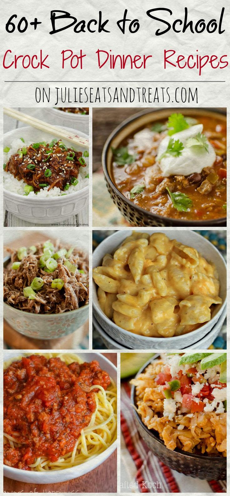 60+ Crock Pot Dinner Recipes ~ Tons of easy recipes perfect for any busy family when you need to get dinner on the table fast!