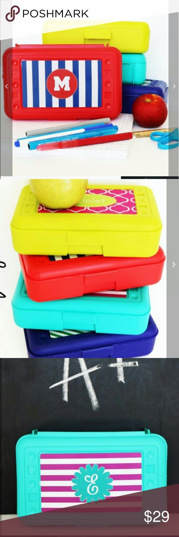 Personalized Back to School – Pencil Boxes Back to School – Pencil Boxes – Personalized  Stand out at school with your customized personalized pencil box! Great for pencils, pens and school supplies, art supplies or any other small personal items. Also makes a great way to organize craft project supplies. You will be the most stylish kid in class with this personalized art box! Choose from a variety of patterns, colors, and fonts!  ***All name will be in the color white*** 8″ x 4.5″ x 2.75″…