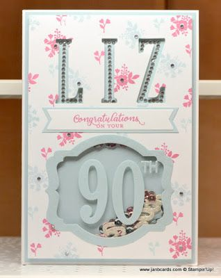 Hello, Crafters.   Yesterday was our dear friend Liz's 90 th birthday. Hubby telephoned Liz first thing in the morning so we could both s...