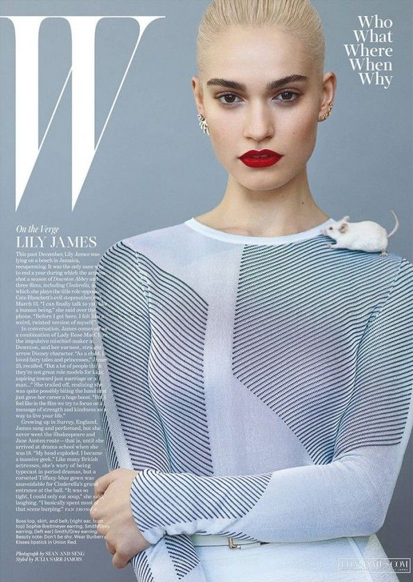 Lily James by Sean & Seng for W Magazine March 2015