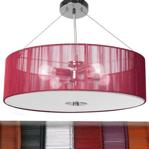 jago Lampadario da soffitto classe A++ fino E colore a scelta (rosso)