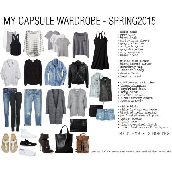 CAPSULE WARDROBE - SPRING2015. Brighter accessories. Printed tees.