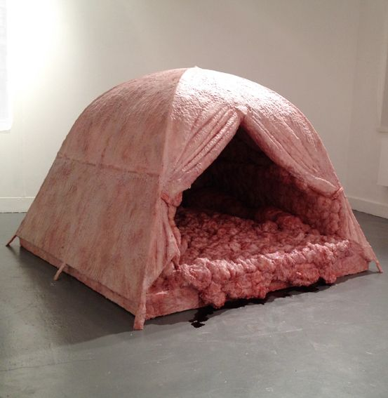 Artist Creates Life-Sized Tents That Look Like Flesh And Intestines - DesignTAXI.com