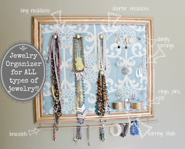 All in one jewelry organizer  |  View From The Fridge