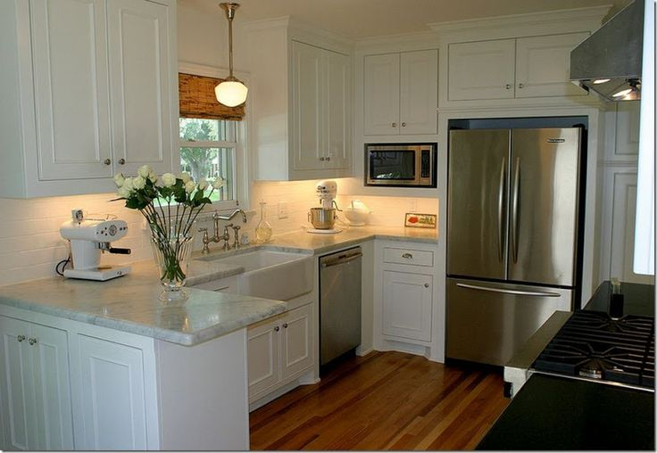 Kitchens With White Cabinets And Honed Black Granite
