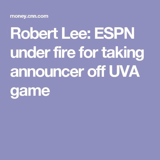 Robert Lee: ESPN under fire for taking announcer off UVA game
