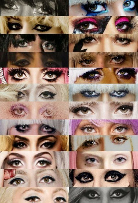 I was just thinking I needed a Lady Gaga eyeliner reference sheet. Check.