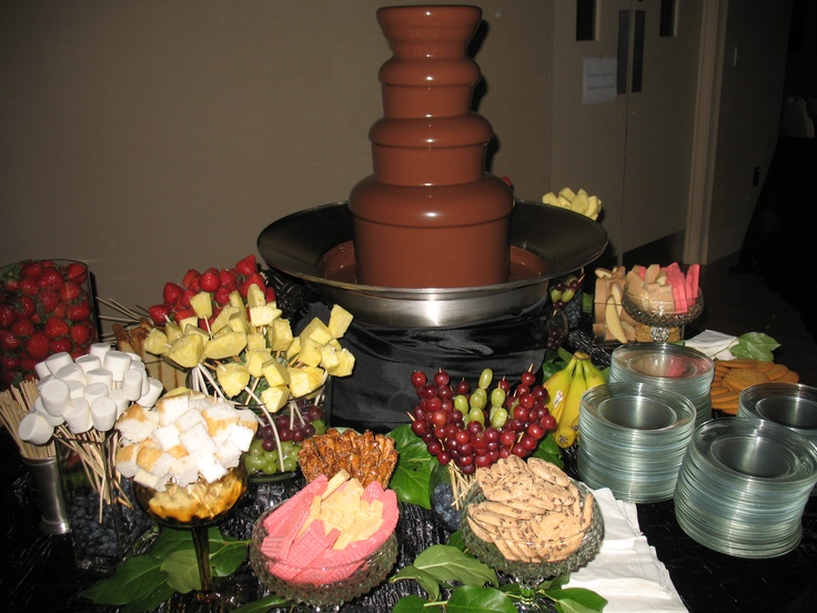 A Chocolate Fountain is a sweet desert idea that is ...