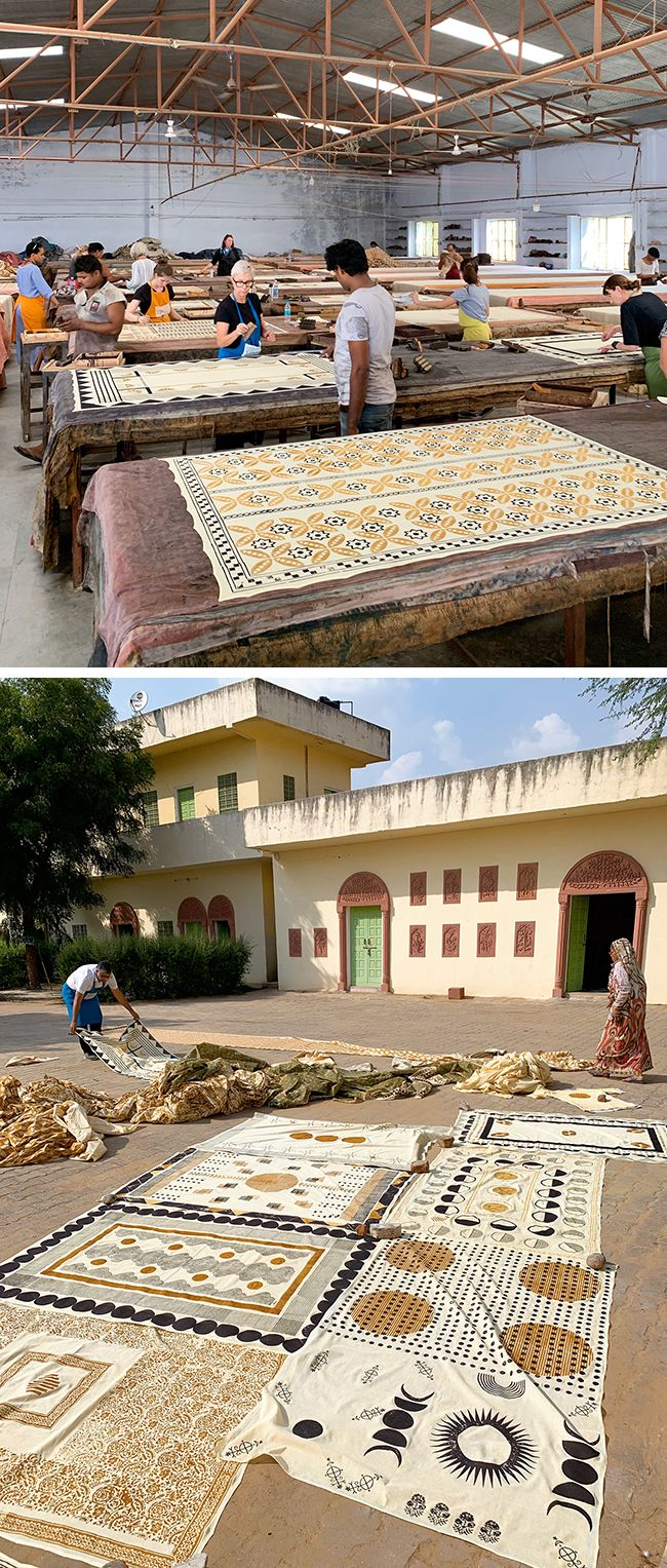 Learning about block printing in Jaipur, India