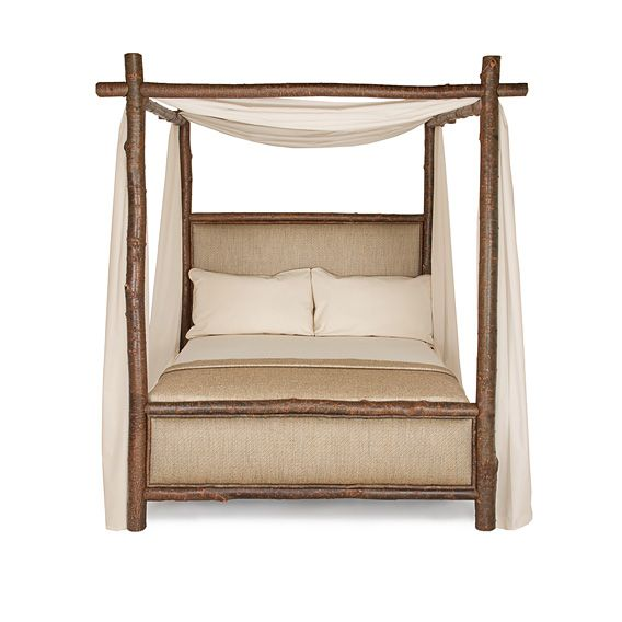 Rustic Canopy Bed Queen #4544 (Shown in Natural Finish)