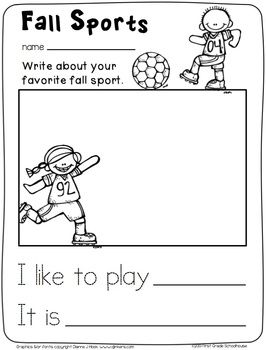 Fall Writing for Kinders. $ Filled with kindergarten writing activities for the fall season.