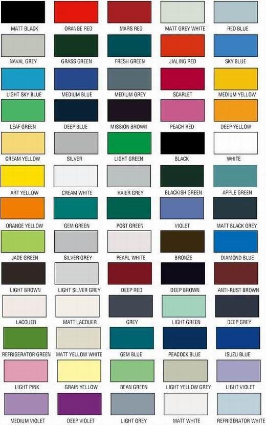 Carta de colores de pintura para carros - Imagui
