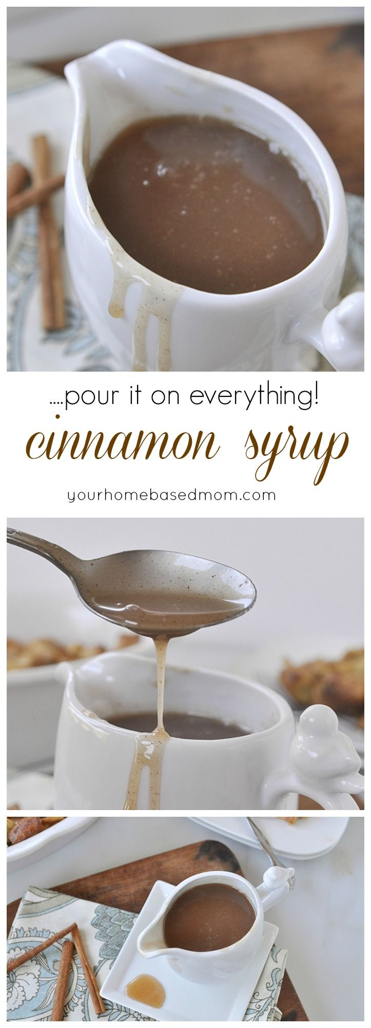 Cinnamon Syrup is delicious on everything! Great for breakfast.