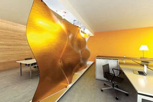 3form – Shapes 3-D Varia panels    Shapes 3-D Varia ecoresin panels by 3form, 800-726-0126; 3-form.com