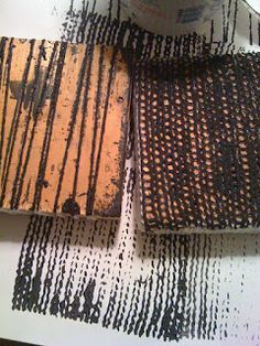 Kelly Darke - Fine Art: Hand made stamps with yarn
