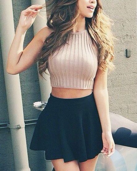 #summer #fashion / knit crop top