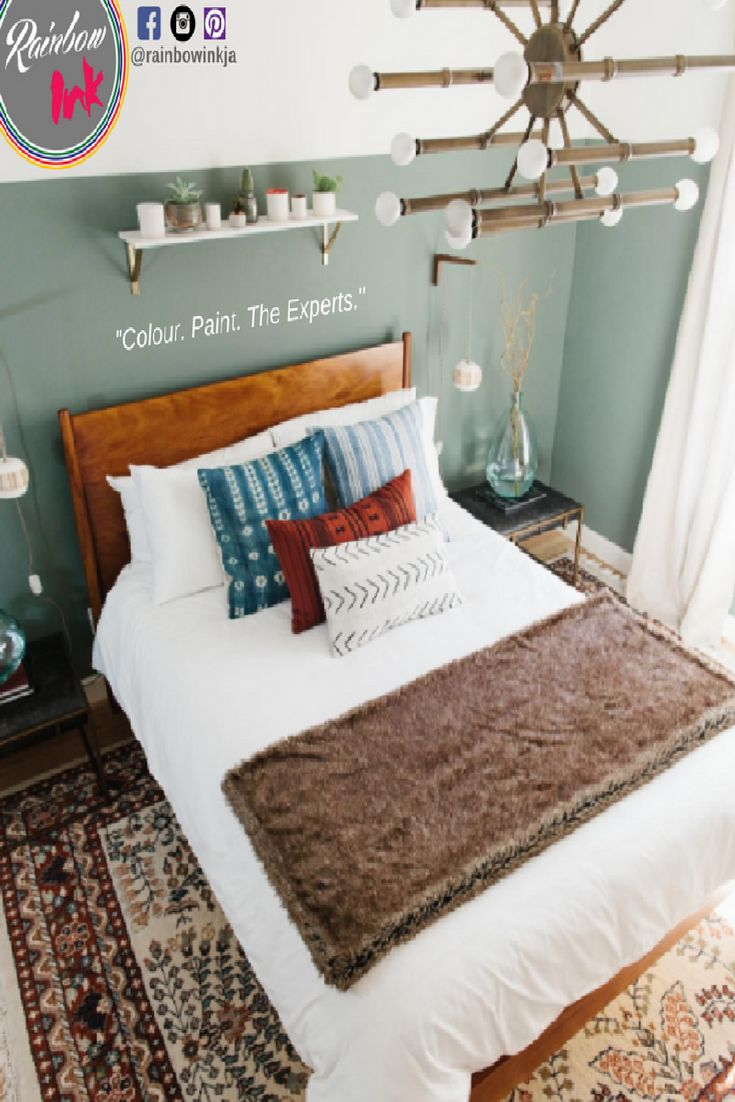 a cozy feeling guest room with sage