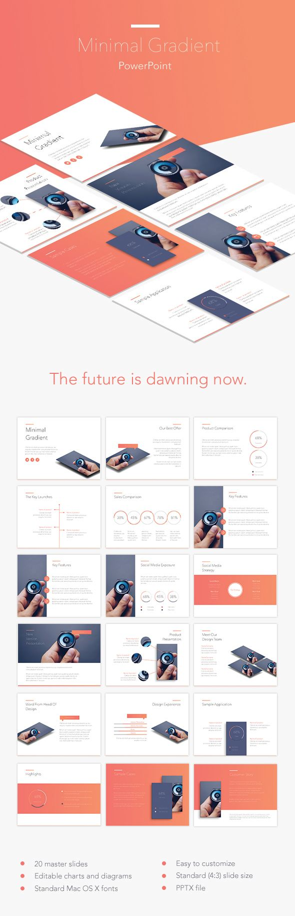 228 best powerpoint presentation templates images on pinterest minimal gradient powerpoint template alramifo Gallery