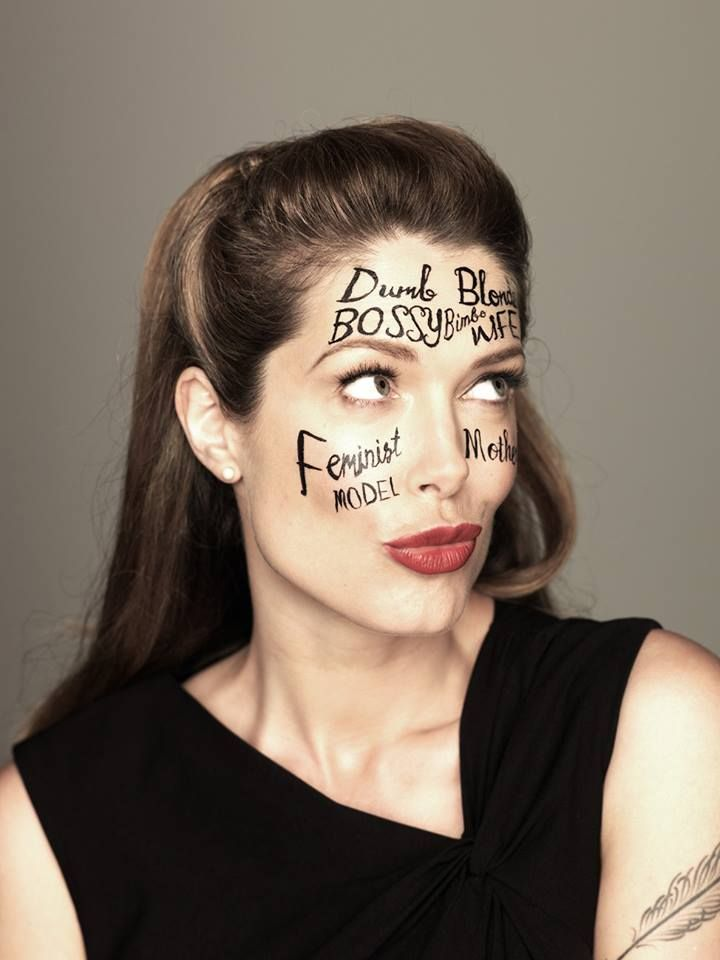 WEARING LABELS. Tara Moss shooting the cover of her non-fiction book, The Fictional Woman, out May 22 with HarperCollins. Photography by Steve Baccon.