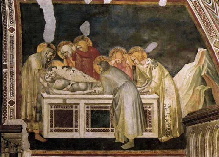 Pietro Lorenzetti (c. 1280 - 1348) Entombment c. 1320 Fresco Lower Church, San Francesco, Assisi, Italy