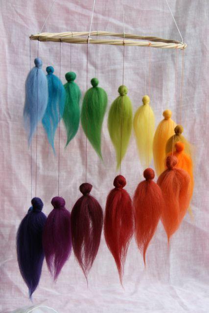 Rainbow Fairies round dance Mobile / Fairy dance by elfenwiege