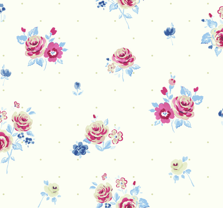 Fryett's Fabrics: Petit Fleur Blue